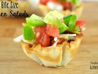 Bite Size Taco Salads