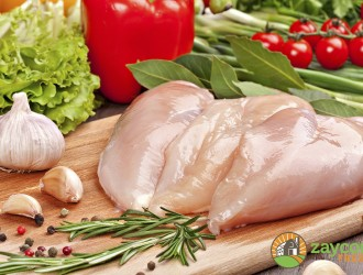 Fresh raw chicken  fillet  and vegetables prepared for cooking