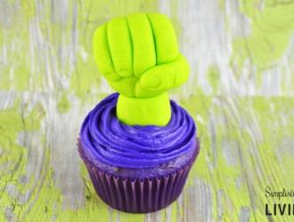 Homemade Hulk Cupcakes