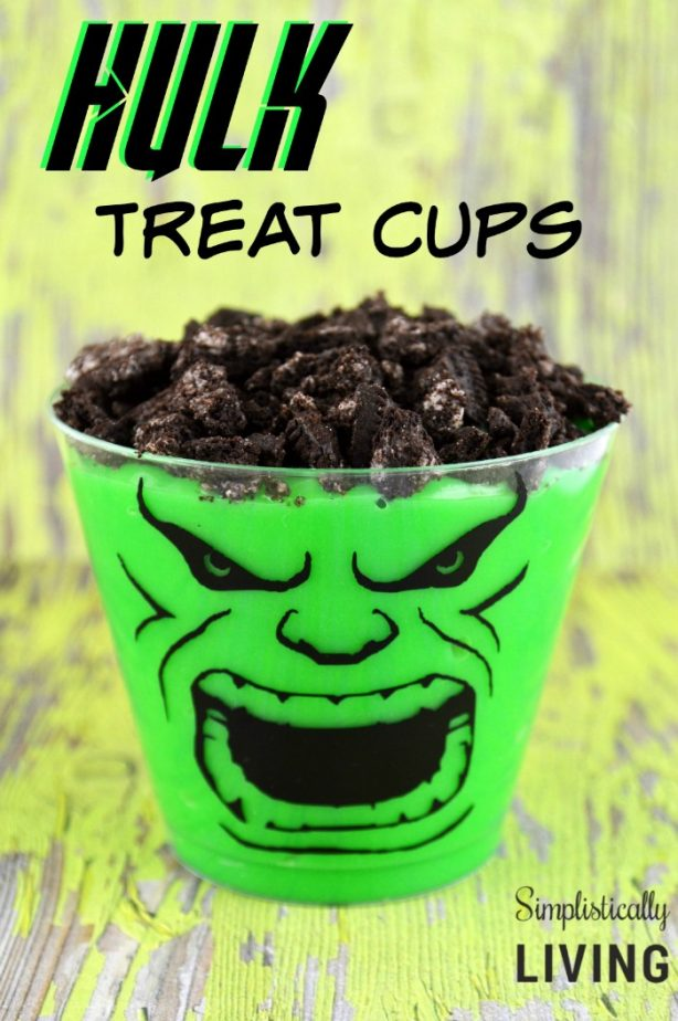 hulk treat cups