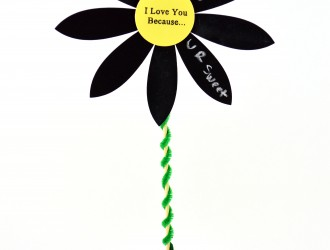 """I Love You Because"" Flower Pot Craft (Perfect for Mother's Day)"
