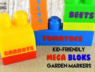Kid-Friendly Mega Bloks Garden Markers