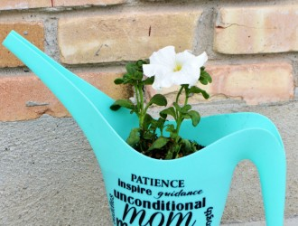 DIY Mother's Day Personalized Watering Can