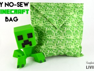 DIY No-Sew Minecraft Bag