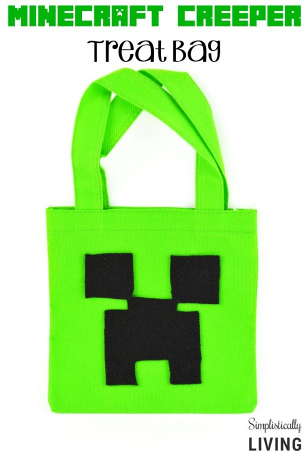 DIY Minecraft Creeper Treat Bag
