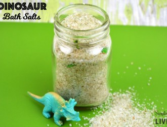 Homemade Dinosaur Bath Salts