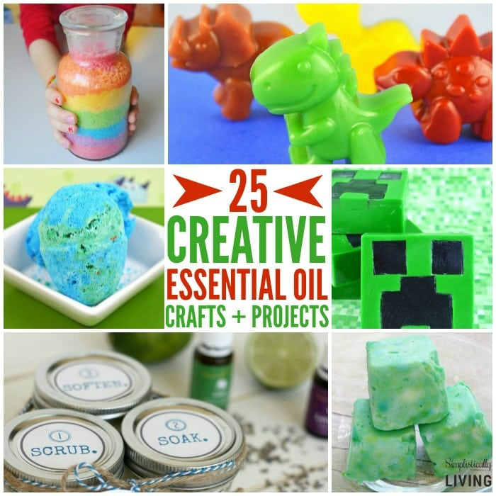 Essential Oil Crafts and Recipes Featured