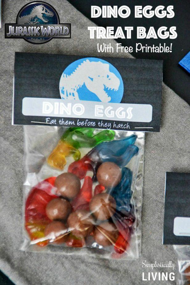 Jurassic World Dino Eggs Treat Bags