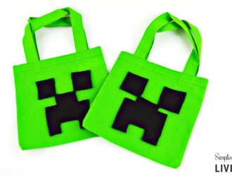 DIY Minecraft Creeper Treat Bag