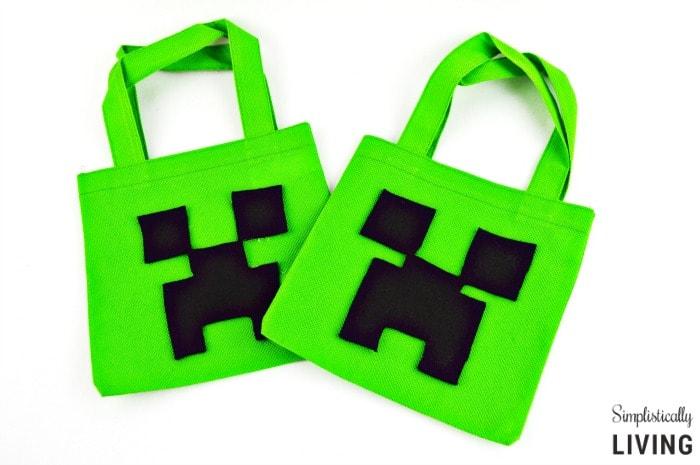 Minecraft Creeper Treat Bag Featured