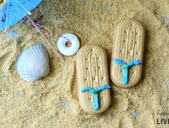 Beachy Flip Flop Cookies