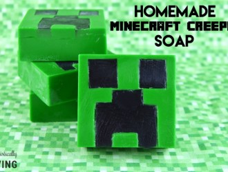 Homemade Minecraft Creeper Soap
