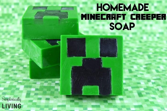 homemade minecraft creeper soap2