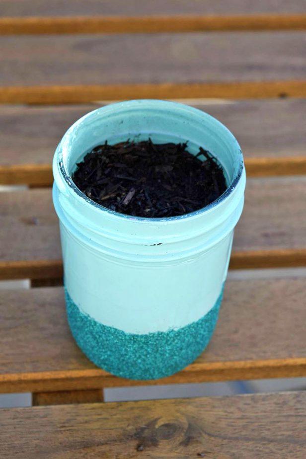 mason jar succulent garden inprocess3