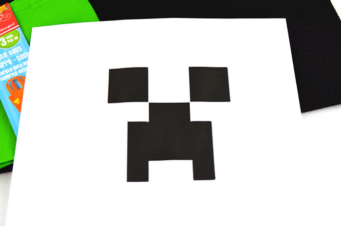 photo relating to Minecraft Printable Creeper referred to as Do it yourself Minecraft Creeper Address Bag