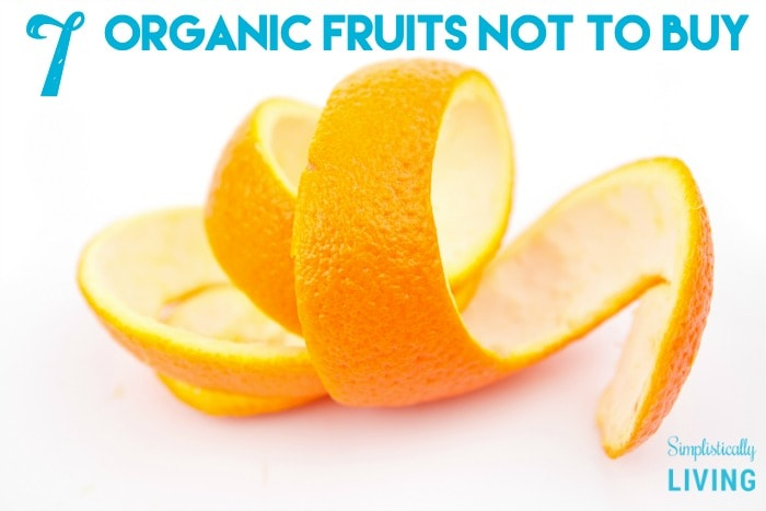 organic fruits not to buy