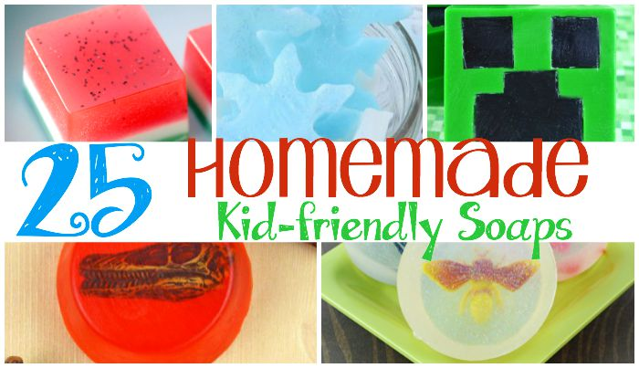 25 Homemade Kid-friendly soaps featured