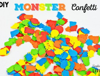 DIY Monster Confetti Featured
