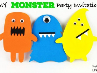 DIY Monster Party Invitations Featured