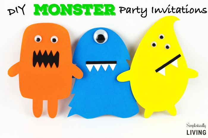 DIY Monster Party Invitations Simplistically Living – Monster Party Invites