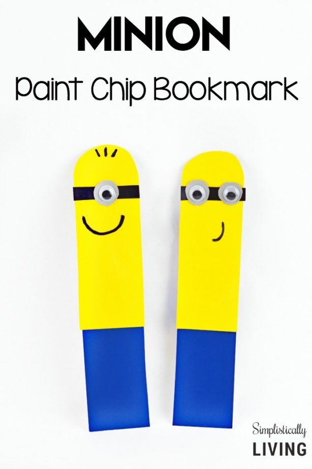 Paint Chip Minion Bookmark