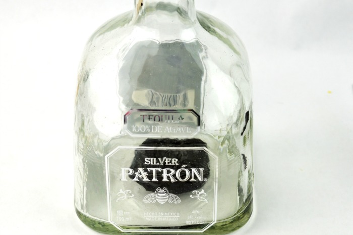 batron upcycled patron bottle inprocess3