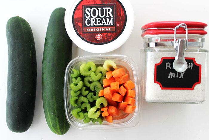 cucumer bites snack ingredients