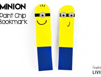 Easy Paint Chip Minion Bookmark