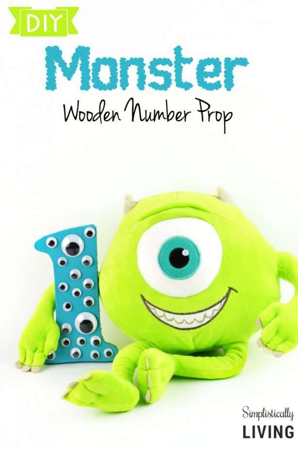 DIY Monster Wooden Number Prop