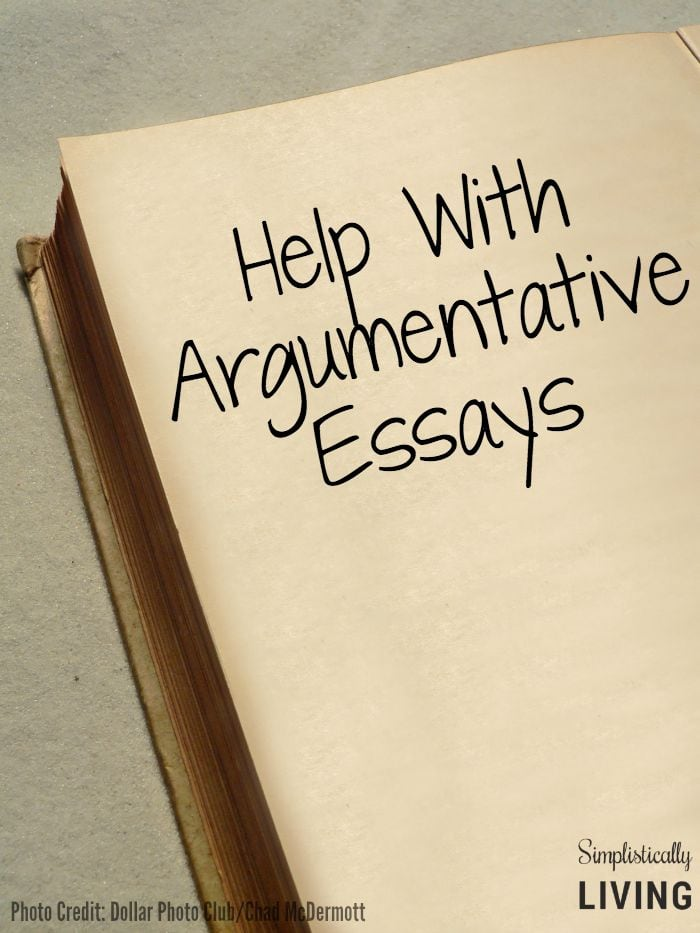 Help with Argumentative Essays