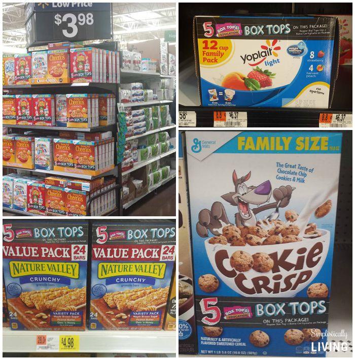box tops products at Walmart