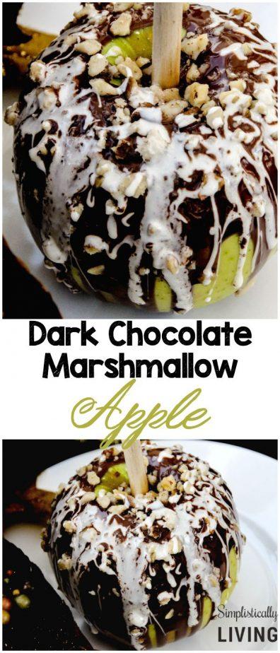 dark chocolate marshmallow apple pinterest