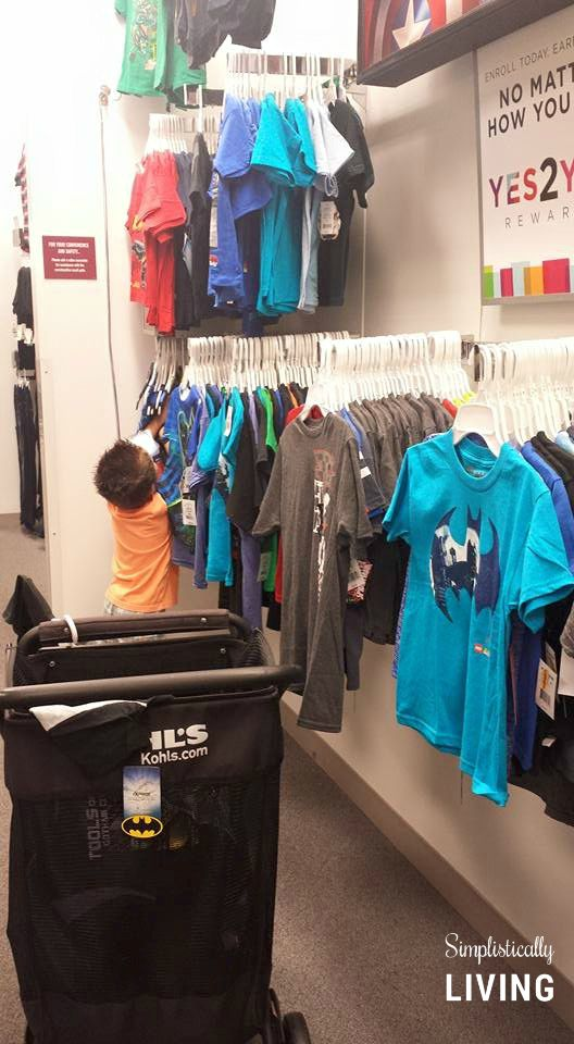looking for shirts at Kohl's