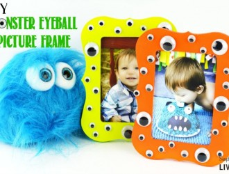 DIY Moster Eyeball Picture Frame