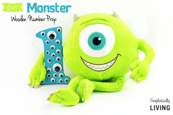 monster wooden number prop featured