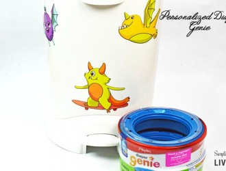 A Personalized Diaper Genie for A One of A Kind Baby Gift!