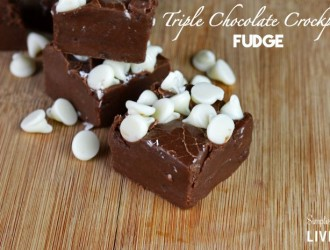 Triple Chocolate Crockpot Fudge
