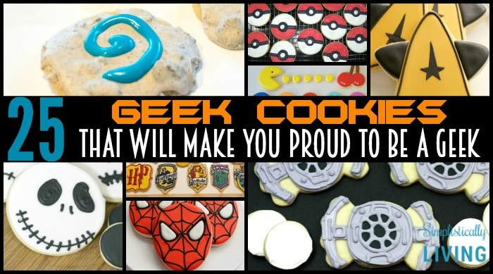 25 geek cookies featured