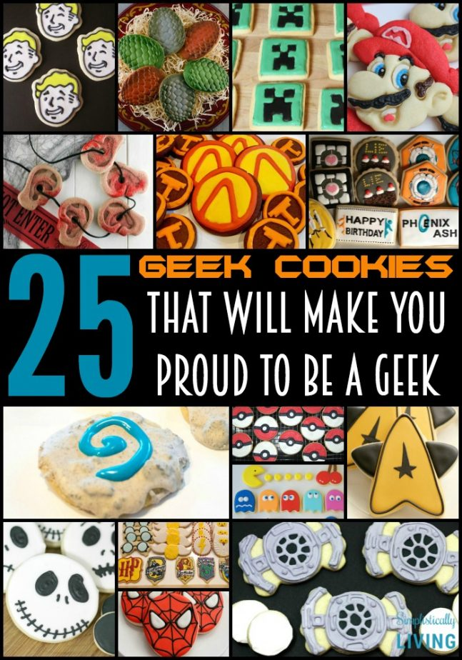 25 geek cookies