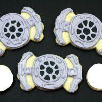 Homemade Star Wars TIE Fighter Cookies
