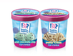 baskin robbins quart ice cream