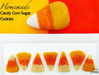 Homemade Candy Corn Sugar Cookies