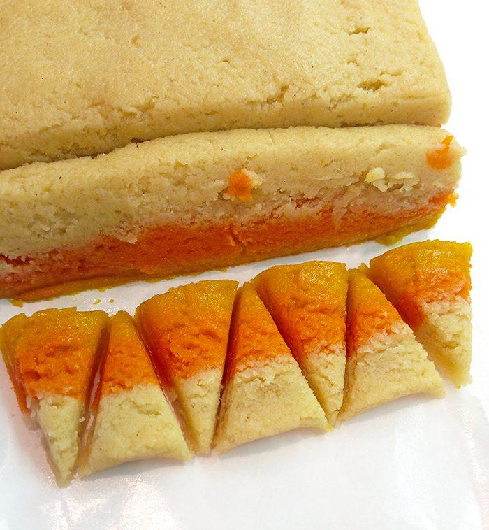 candy corn sugar cookies inprocess3