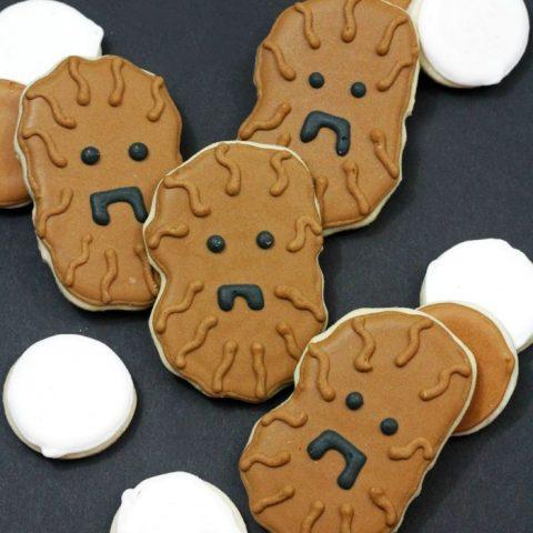Homemade Star Wars Chewbacca Cookies