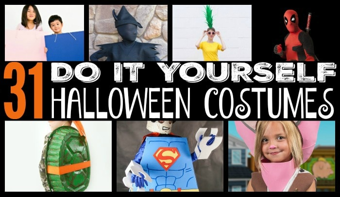31 diy Halloween Costumes featured