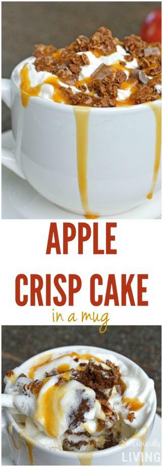 How To Make Apple Crisp Mug Cake