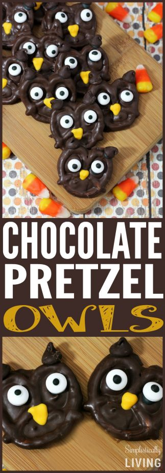 chocolate pretzel owls