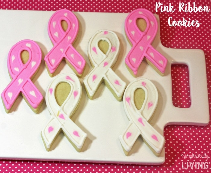 pink ribbon cookies featured