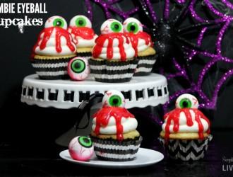 Zombie Eyeball Cupcakes
