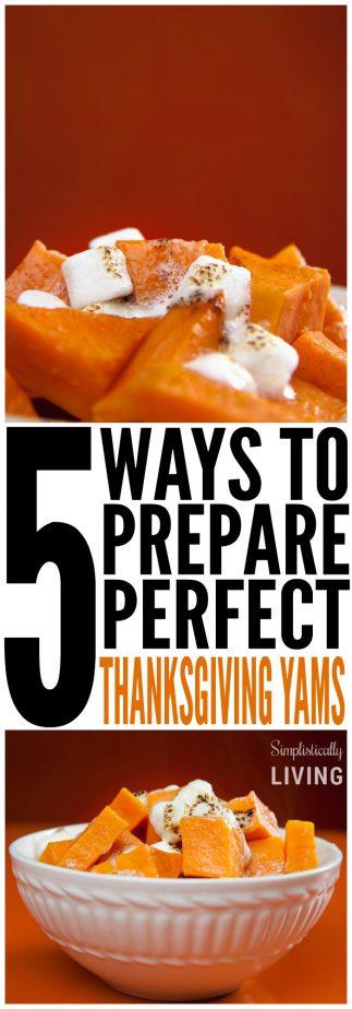 5 ways to prepare perfect thanksgiving yams
